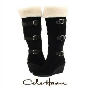 New Cole Haan x Nike Air Michelle Boots Black
